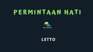 LETTO-PERMINTAAN HATI (KARAOKE+LYRICS) BY AW MUSIK