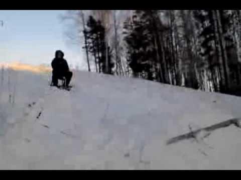 видео на снегокате