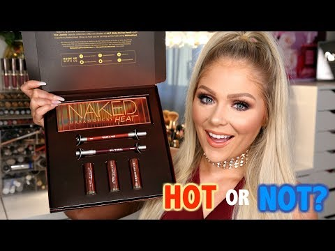 NEW URBAN DECAY NAKED HEAT PALETTE + COLLECTION | FULL FACE FIRST IMPRESSIONS