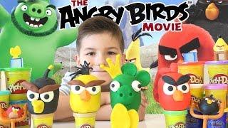 Play-doh Angry Birds Movie surprise eggs / Play-Doh Энгри Бёрдз SanSanychTV / Play-Doh surprise eggs