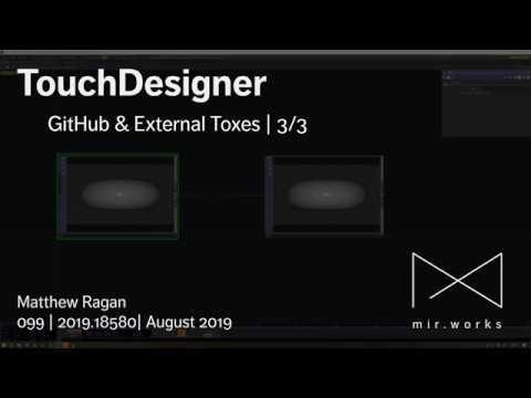 TouchDesigner   Matthew Ragan