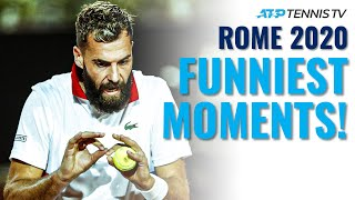 Lights-Out Tennis \u0026 Paire Antics in Funny Moments \u0026 Fails from Rome 2020!