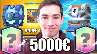 💰Ultra PAY2WIN Account! | 5000€ für Chest Openings! | Clash Royale deutsch