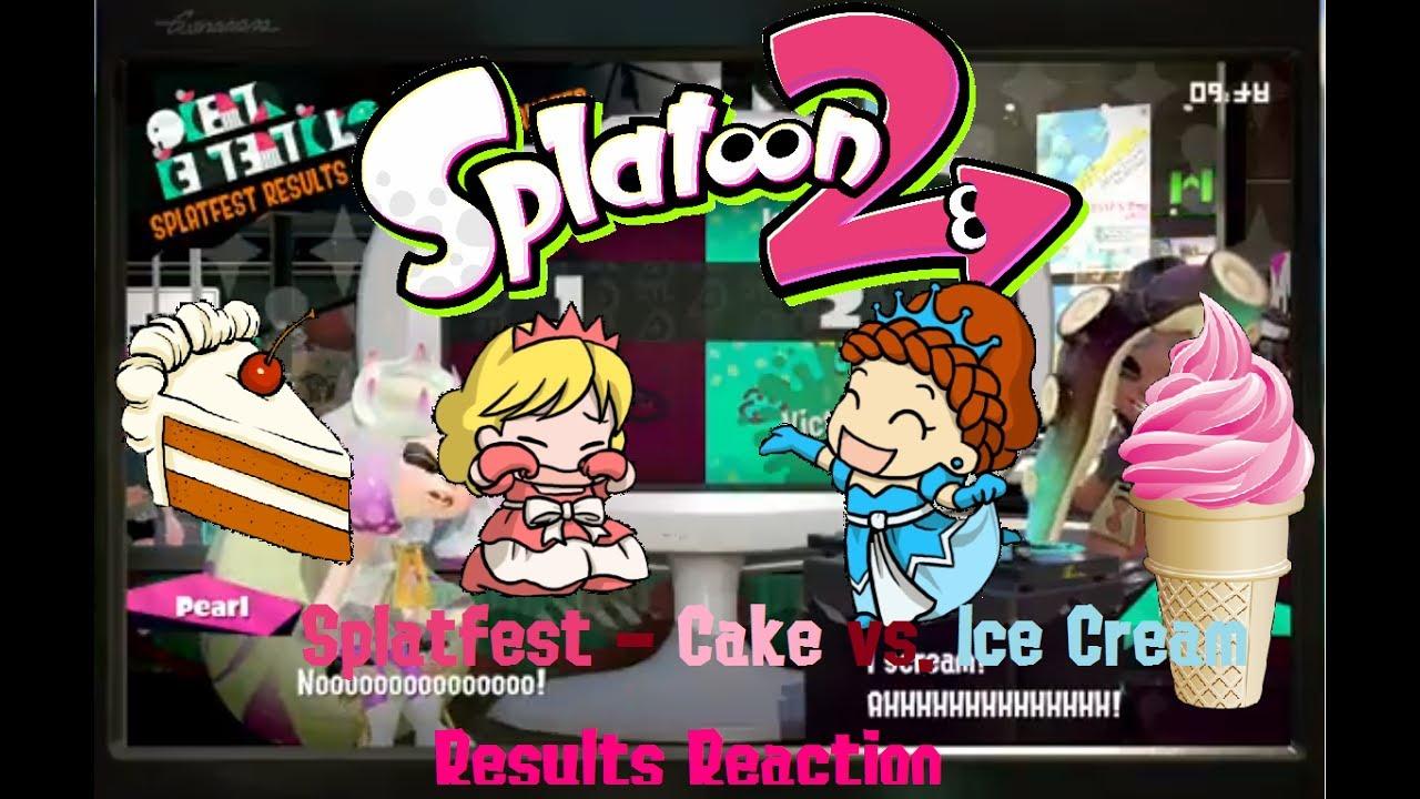 Cake Vs Ice Cream Splatoon Results