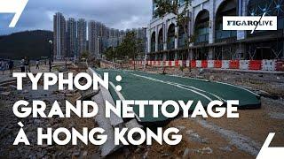 Grand nettoyage à HONG KONG après le passage du typhon MANGKHUT