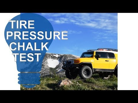 Tire Pressure Chalk Test