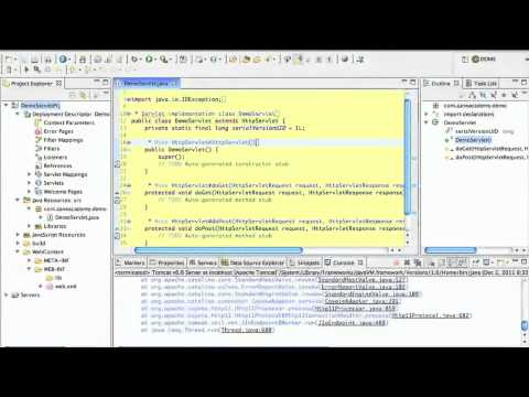 Java Servlets 01 - Tutorial using Eclipse with the Tomcat web server