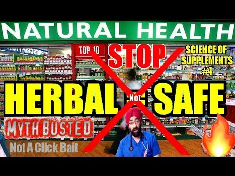 SOS #4: WHY NATURAL, HERBAL, AYURVEDIC SUPPLEMENTS ARE NOT SAFE (ENG) Dr.Education