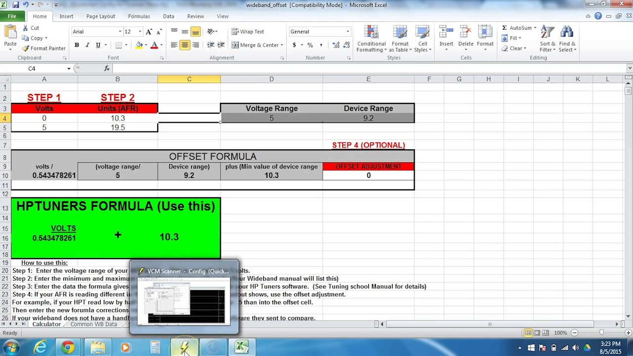 Wego IV Setup Part 2: How to Set Up Wideband Inside HP Tuners Software