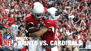 Carson Palmer Scrambles and Fires to WR John Brown for 10-Yard TD | Saints vs. Cardinals | NFL
