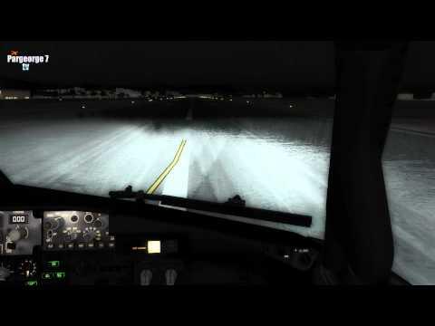►FSX RAINY NIGHT LANDING AT NIKOS KAZANTZAKIS AIRPORT