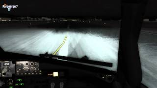 ►FSX RAINY NIGHT LANDING AT NIKOS KAZANTZAKIS AIRPORT