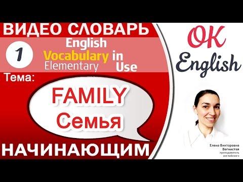 Тема 1 Family - семья. 📕Английский словарь для начинающих. English vocabulary in use elementary