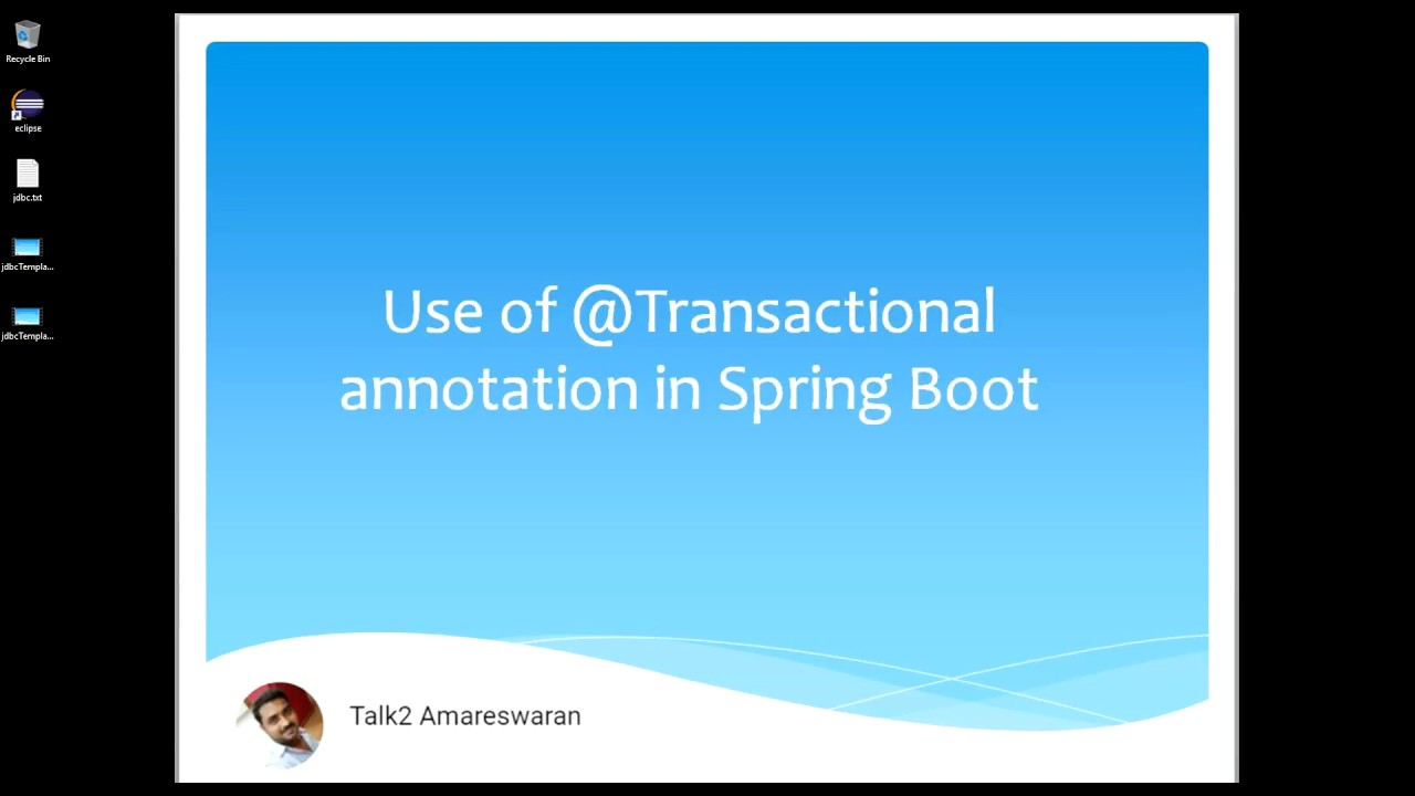 Use of @Transactional annotation in Spring Boot