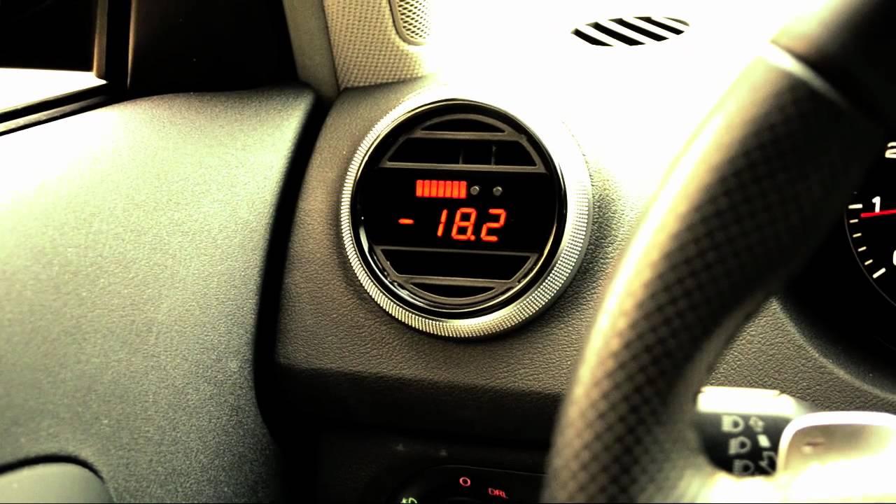 P3 Cars Integrated Boost Gauge 08-14 Subaru Impreza WRX STI Pre-Installed Vent