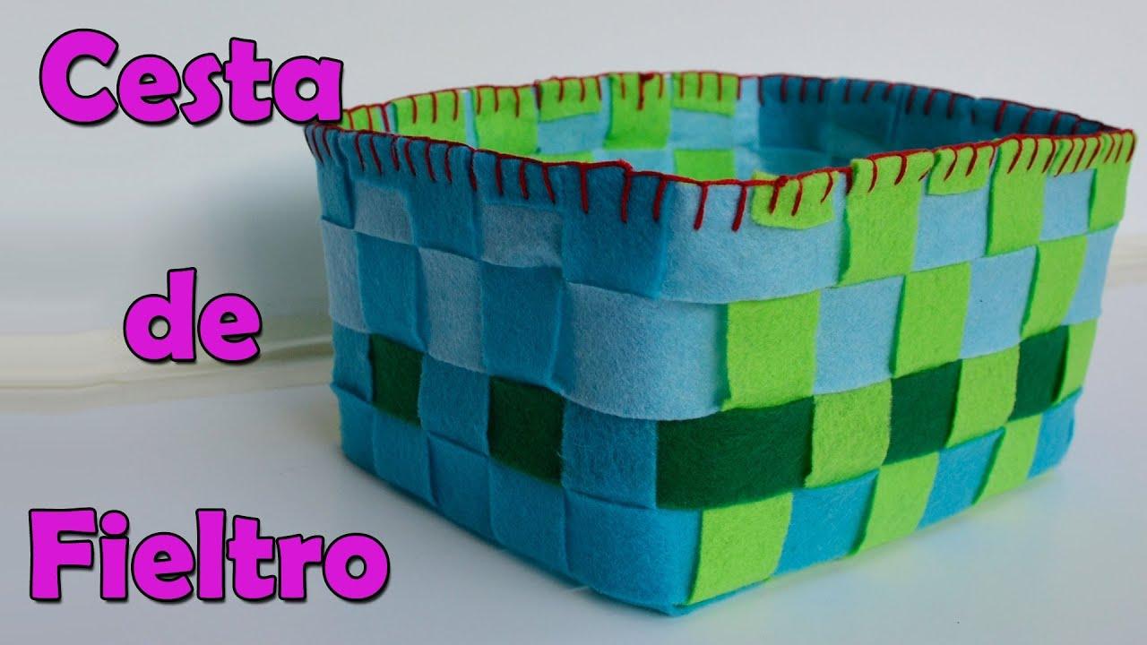 Manualidades cesta de fieltro manualidades para todos - Todo tipo de manualidades para hacer ...