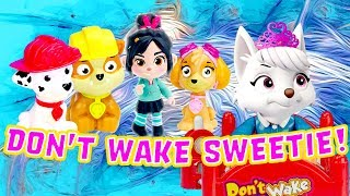 Paw Patrol & UglyDolls Don't Wake Daddy Mystery Game! W/ Skye, Rubble & Moxy