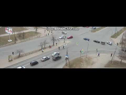 Перекресток на проспекте Энтузиастов в Пскове незадолго до смертельного ДТП