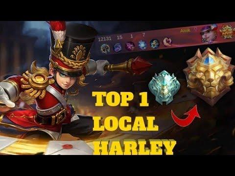 BEST HERO TO REACH LEGEND USING ONLY HARLEY | TOP 1 LOCAL HARLEY | BUILD & EMBLEM SET MOBILE LEGENDS