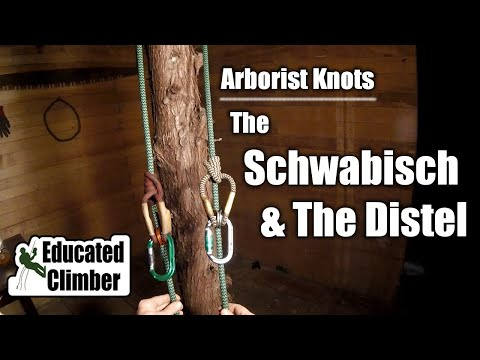Schwabisch & Distel - Two Closely Related Climbing Hitches