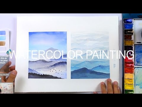 [LVL1] Easy Watercolor Landscape Painting for Beginners