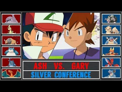 Ash Vs. Gary (Pokémon Sun/Moon) - Pokémon League/Silver Conference