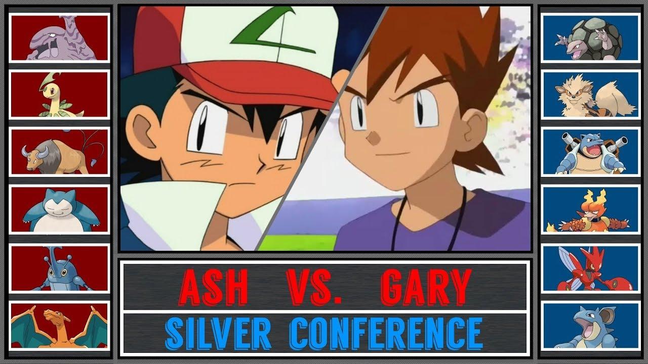 Ash Vs Gary Pokemon Sun Moon Pokemon League Silver Conference