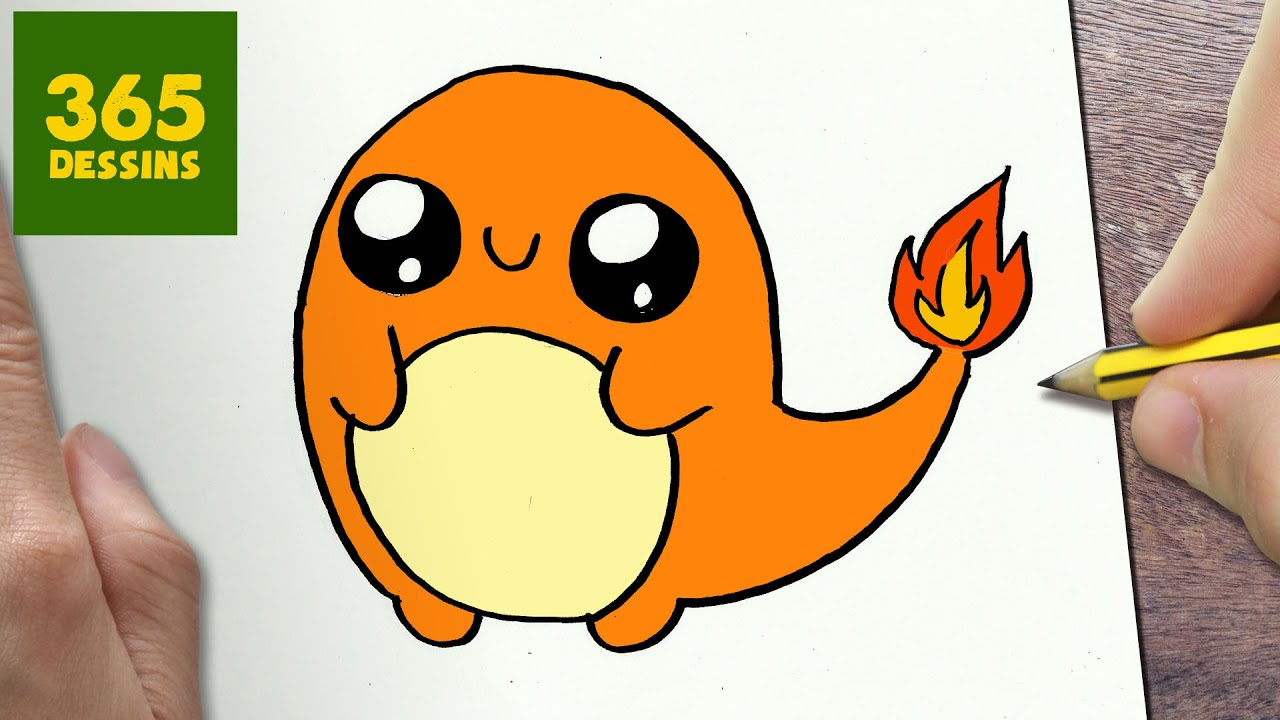 Comment Dessiner Charmander Kawaii étape Par étape Dessins Kawaii Facile