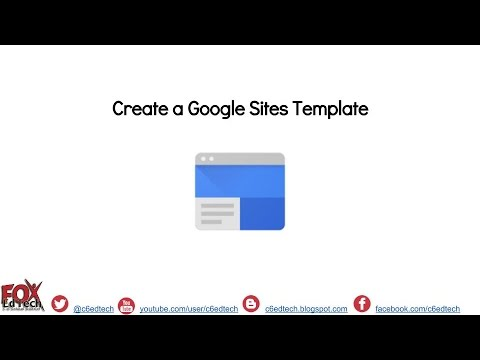 Create and Access Google Sites Template Page - YouTube
