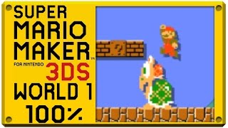 Super Mario Maker for Nintendo 3DS - World 1   Super Mario Challenge 100% Walkthrough