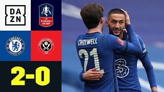 Eigentor und Ziyech bringen Blues ins Halbfinale: Chelsea - Sheffield Utd 2:0 | FA Cup