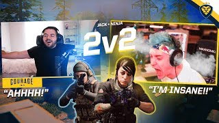 NINJA & COURAGE INSANE 2V2 GUNFIGHT WIN STREAK! AFTER DARK CALL OF DUTY! (Modern Warfare)