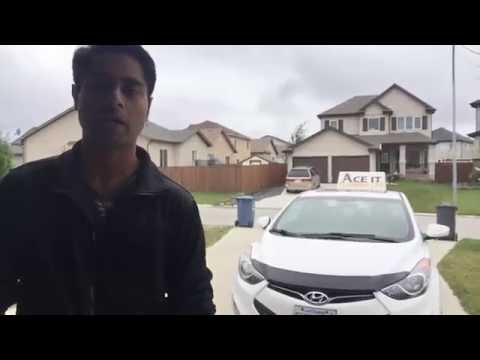 Winnipeg city driving lesson - Oct 05, 2016