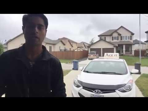 Winnipeg city driving lesson - Oct 05, 2016