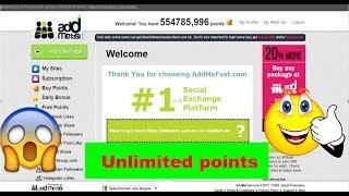 Addmefast: Get 5000 points per day    Best BOT script 2017