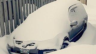 Volvo in Snow Storm. Вольво в снегопад.