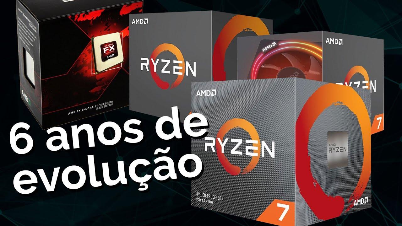 SALTOS de performance do octa-core em AMD em 6 anos! FX vs Ryzen