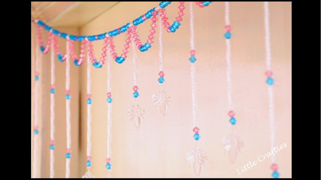 Handmade door hanging toran glass beads curtain diy home decor handmade door hanging toran glass beads curtain diy home decor ideas little crafties teraionfo