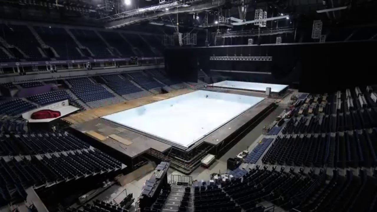 timelapse of constructing olympic size swimming pool in belgrade arena serbia today youtube