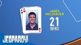 James Holzhauer Becomes the 2nd-Winningest Contestant   JEOPARDY!