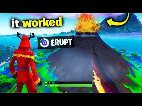 Can You ERUPT The Volcano In Fortnite?