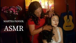 ASMR MARTHA ♥ PANGOL, HAIR MASSAGE & HAIR PLAY FOR SLEEP, WHISPERING, ASMR MASSAGE, CUENCA LIMPIA