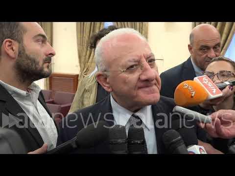 """Moody's declassa Campania, De Luca: """"Governo recuperi senso dell' equilibrio"""""""