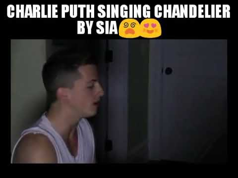 Charlie Puth singing chandelier by Sia