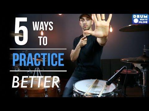 The 5 BEST Ways To Practice Drums - Lesson | Drum Beats Online