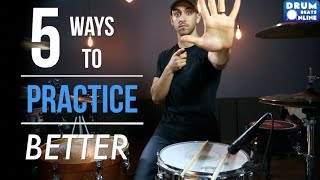 The 5 BEST Ways To Practice Drums - Lesson | Drum Beats Online