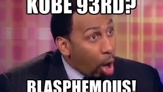 Stephen A Smith Reaction: Kobe ranked 93rd overall - BLASPHEMOUS! (ESPN First Take) Funny