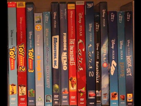 THE COMPLETE PIXAR MOVIE COLLECTION DECEMBER 2015 * DO NOT WATCH WITH KIDS HAS CURSING!*