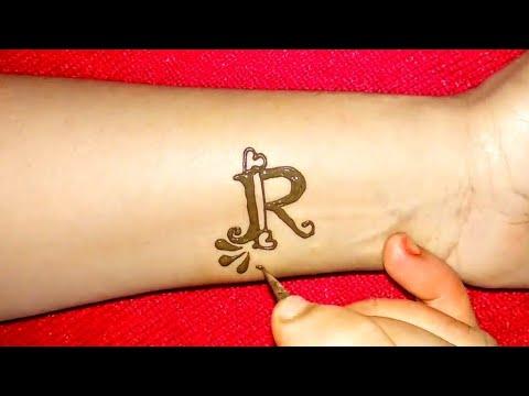 Diy R Letter Henna Tattoo Alphabet R Letter Mehndi Design