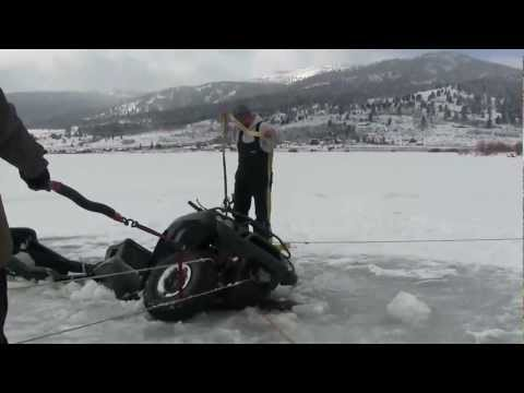 Broke Through The Ice On The 4 Wheeler Going Out To Our Ice Fishing Spot JawJacker Video